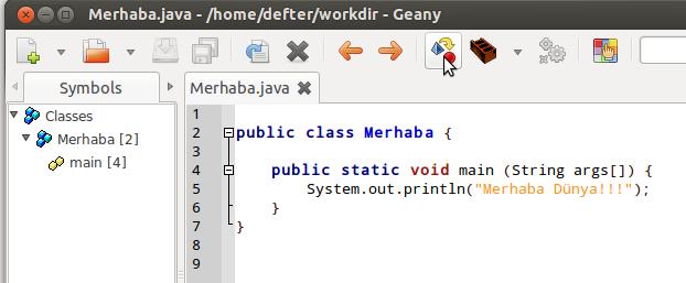 geany templates - java da program yazmak defter